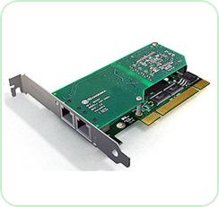 A102: Dual Port Digital Telephony Card
